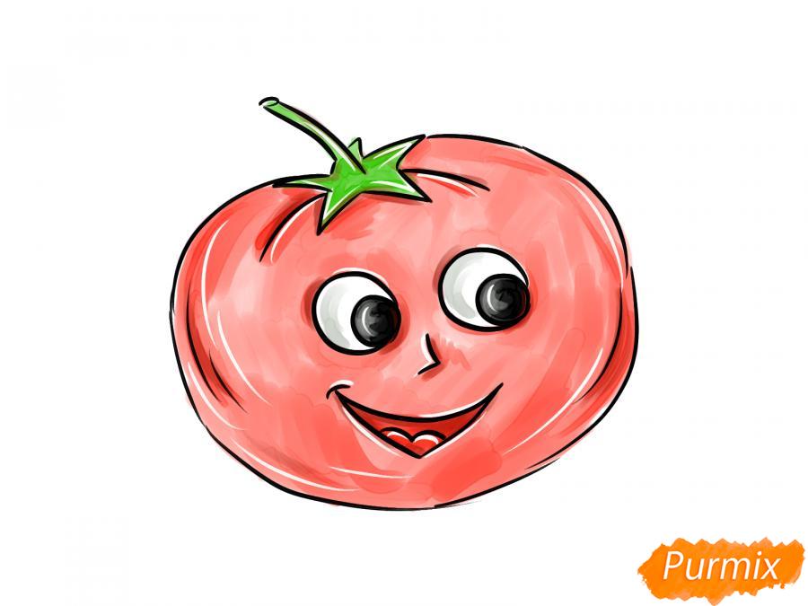 Рисуем помидор с глазками - шаг 9
