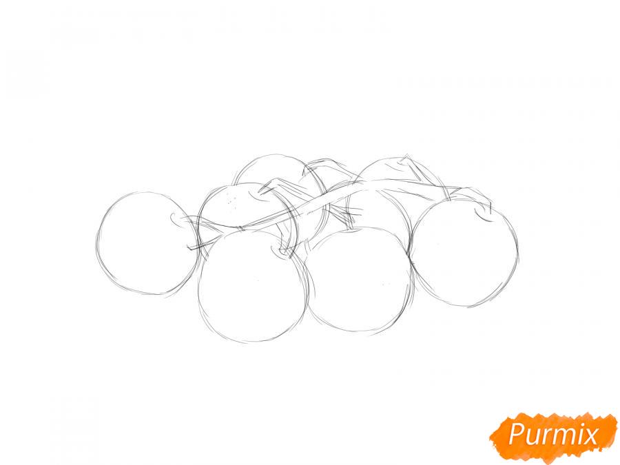 Рисуем помидоры черри - шаг 2