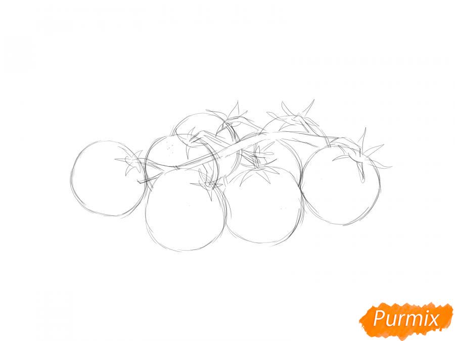 Рисуем помидоры черри - шаг 3