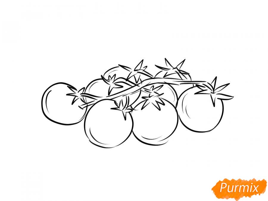 Рисуем помидоры черри - шаг 4