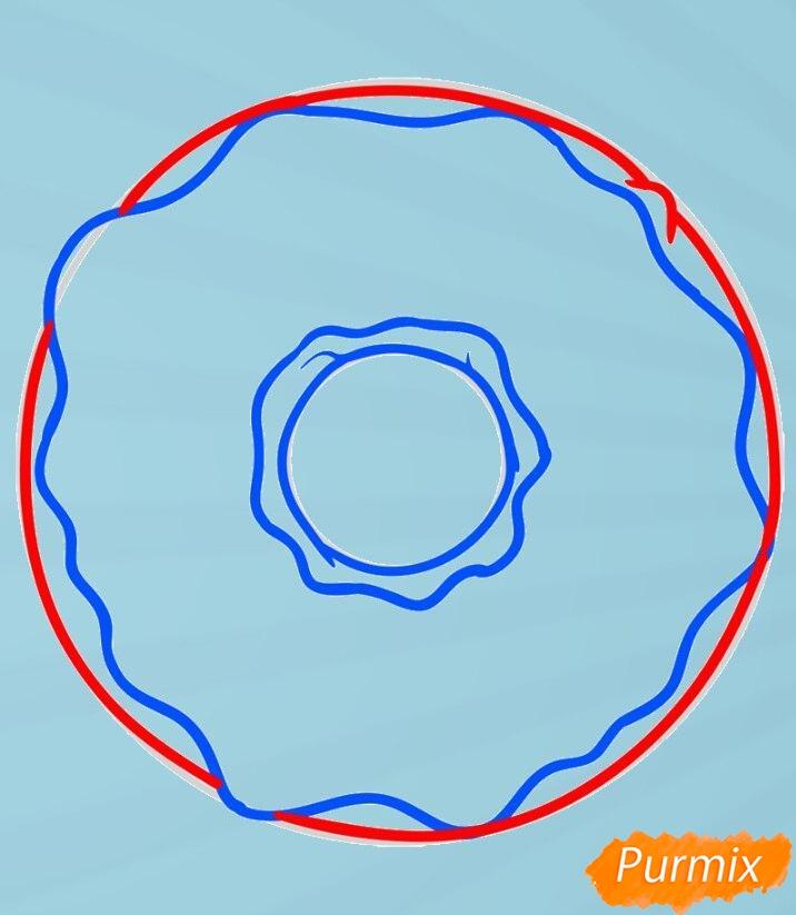 Рисуем пончик простым способом - шаг 5