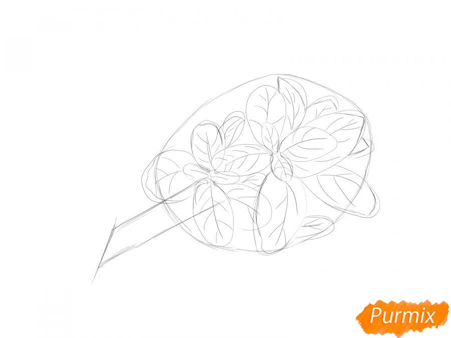 Рисуем пучок базилика - шаг 4