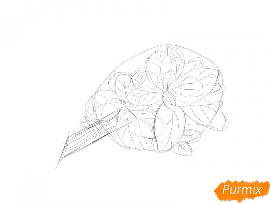 Рисуем пучок базилика - шаг 5