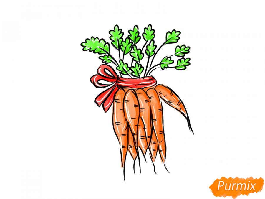 Рисуем пучок моркови - шаг 10