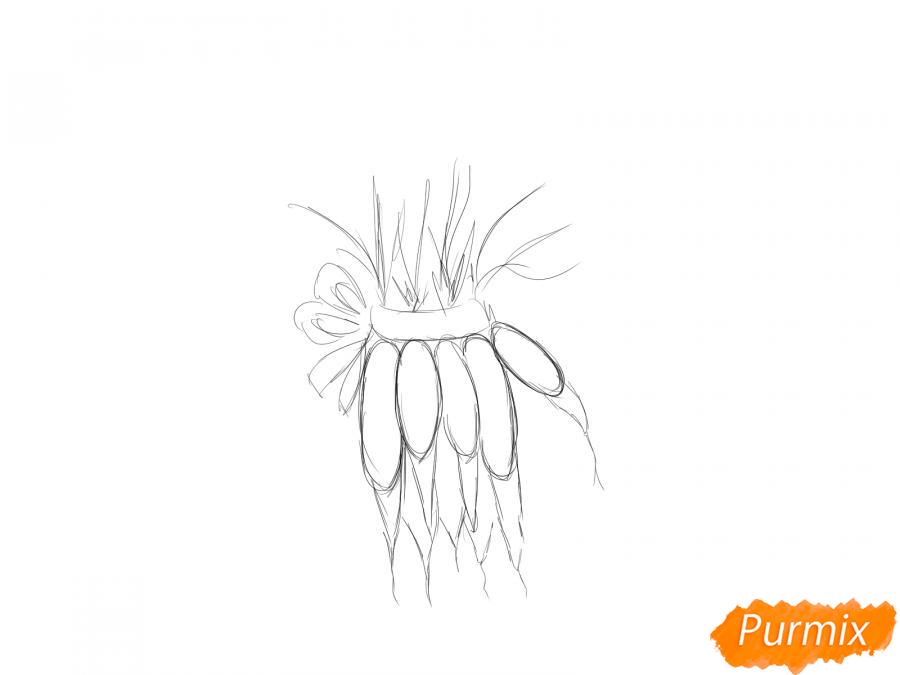 Рисуем пучок моркови - шаг 3