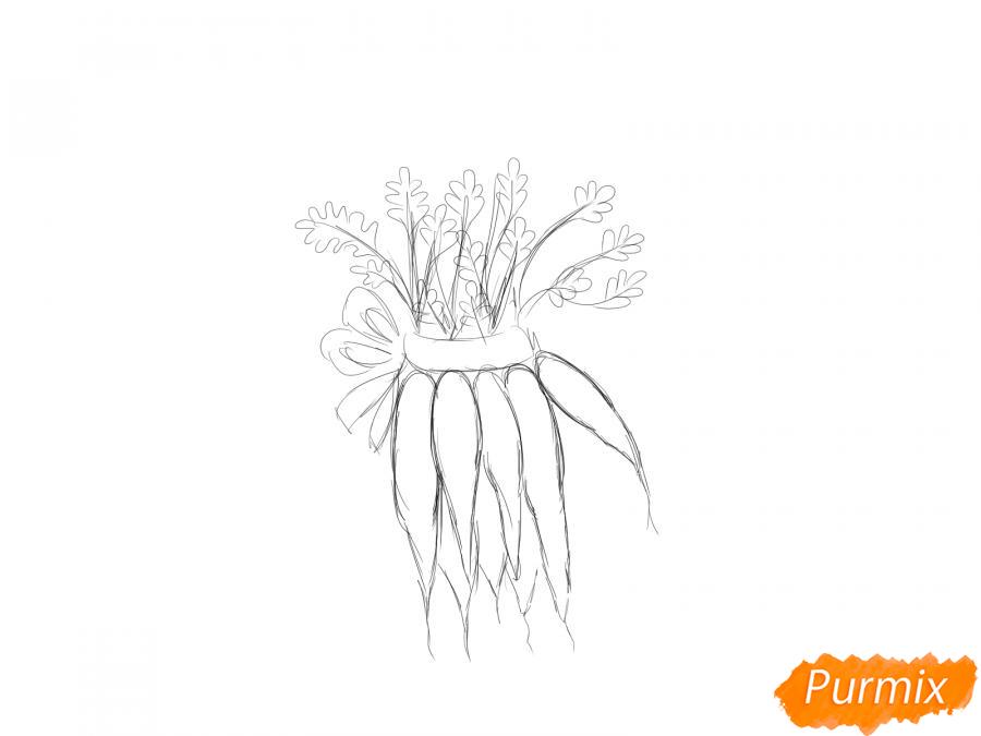 Рисуем пучок моркови - шаг 4