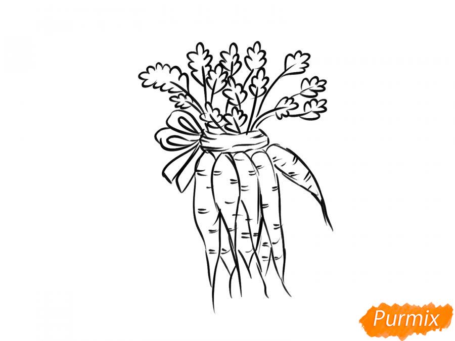 Рисуем пучок моркови - шаг 6