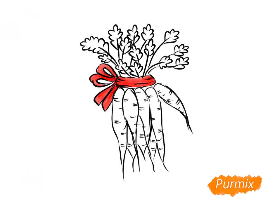 Рисуем пучок моркови - шаг 7