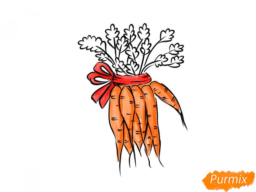 Рисуем пучок моркови - шаг 8