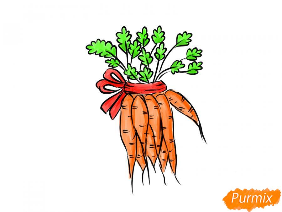 Рисуем пучок моркови - шаг 9