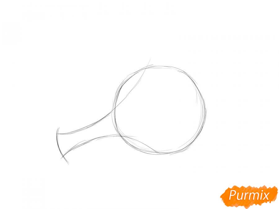 Рисуем пучок мяты - шаг 2
