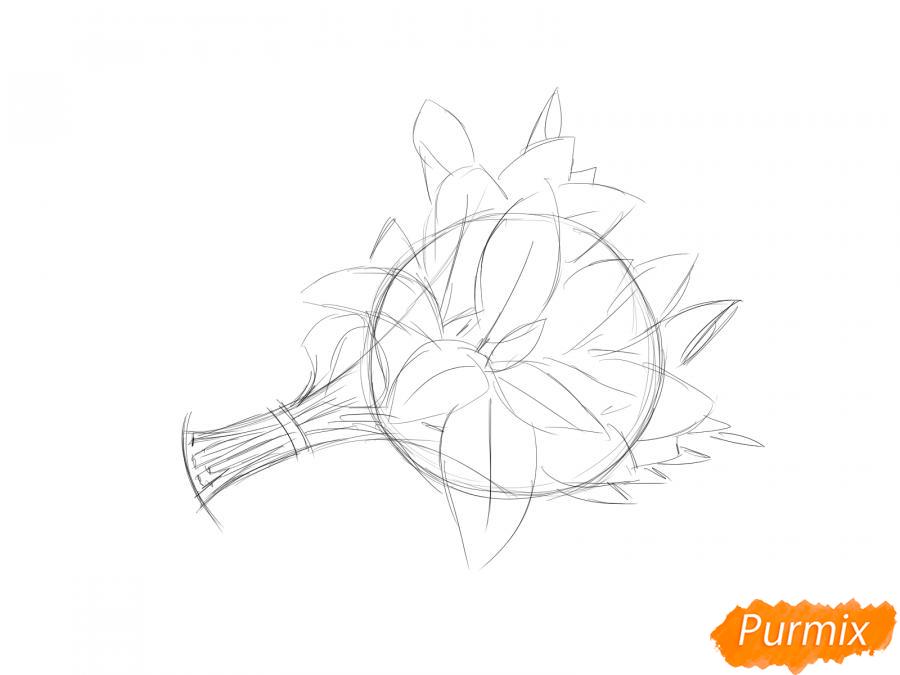 Рисуем пучок мяты - шаг 4