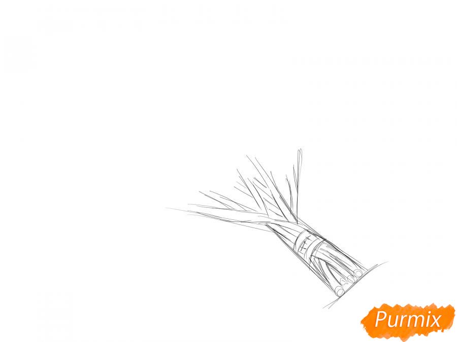 Рисуем пучок петрушки - шаг 2