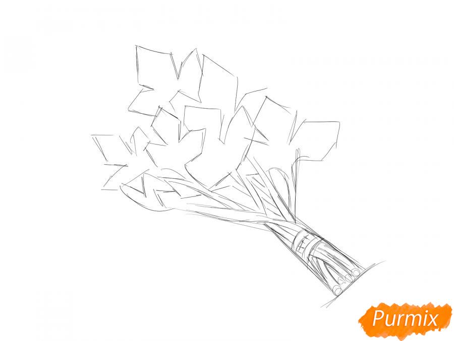 Рисуем пучок петрушки - шаг 3