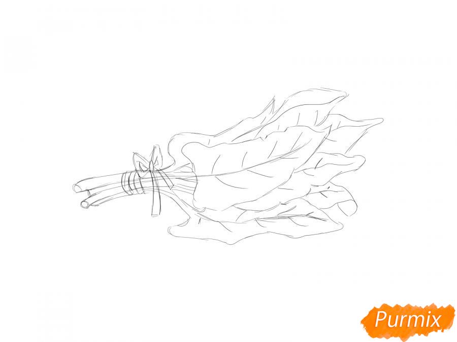 Рисуем пучок щавеля - шаг 5
