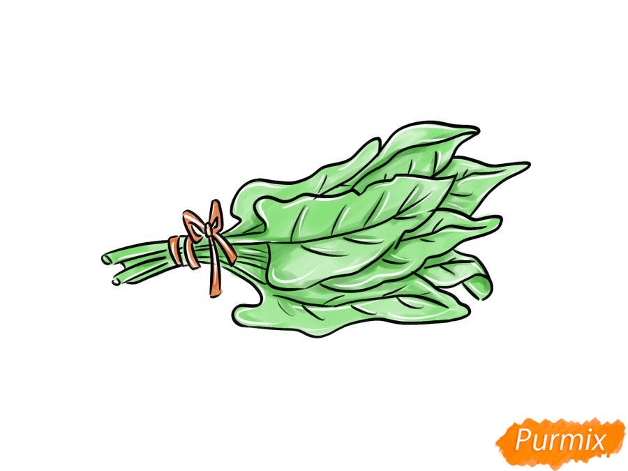 Рисуем пучок щавеля - шаг 8