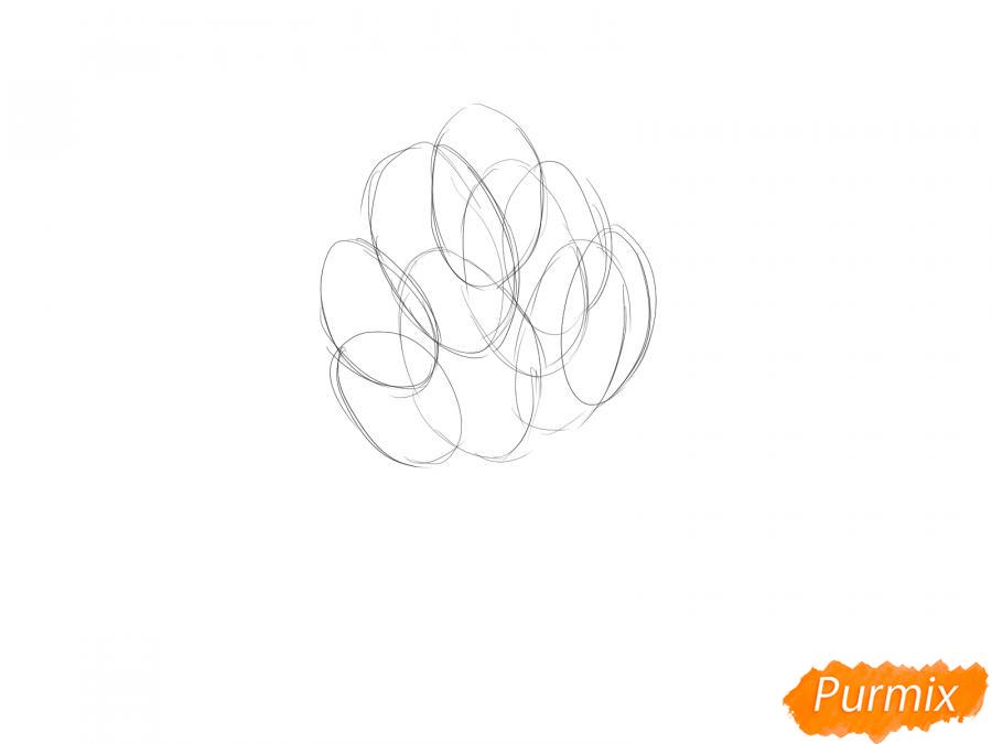Рисуем пучок шпината - шаг 1