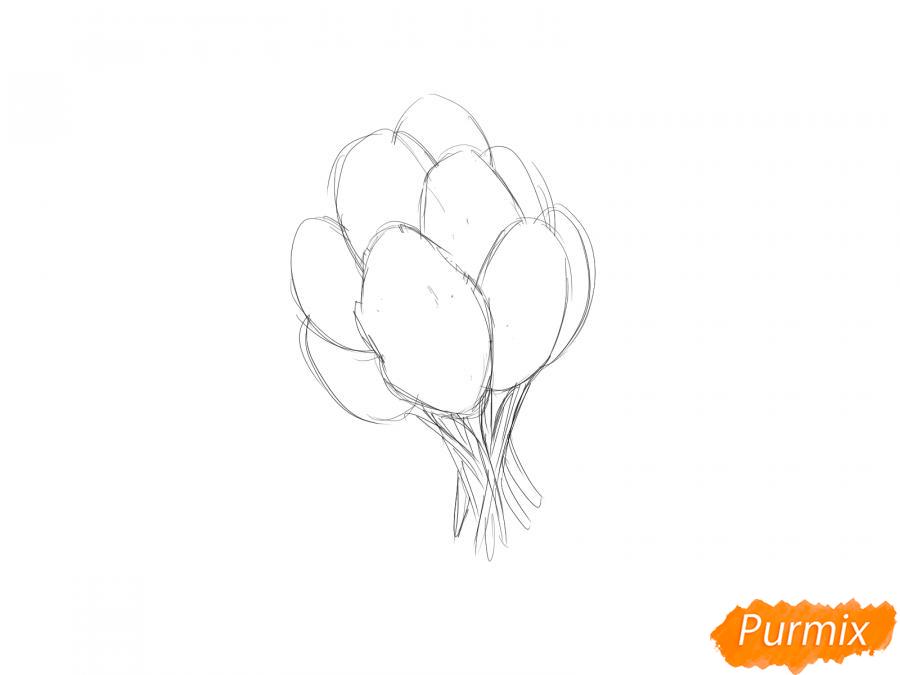 Рисуем пучок шпината - шаг 3