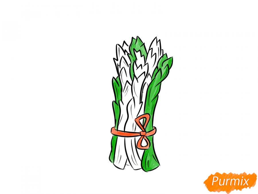 Рисуем пучок спаржи - шаг 7