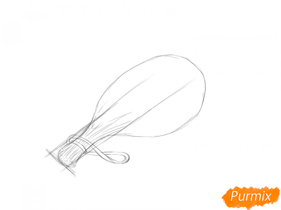 Рисуем пучок укропа - шаг 3