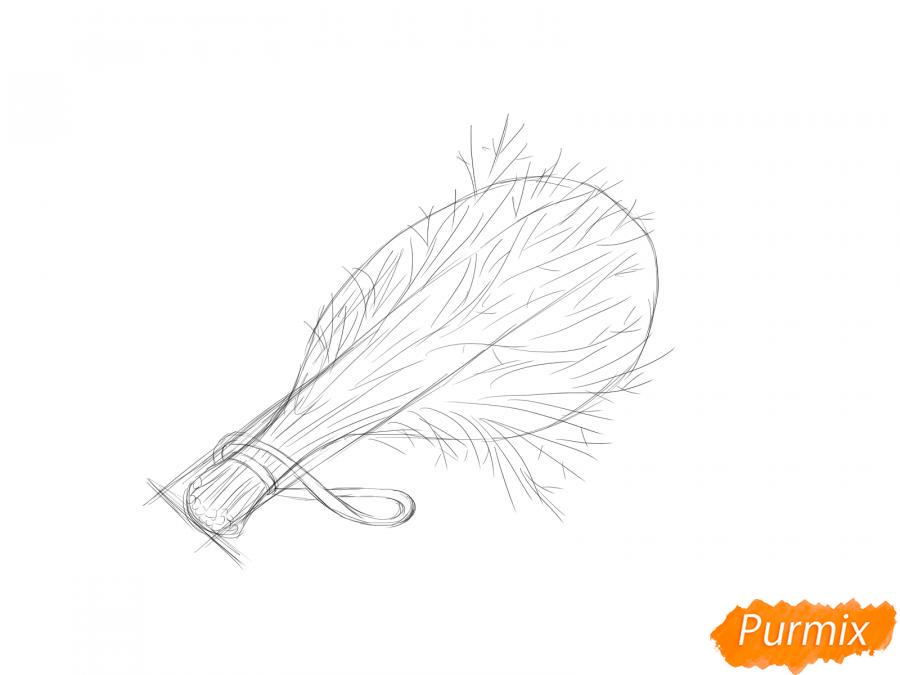 Рисуем пучок укропа - шаг 4