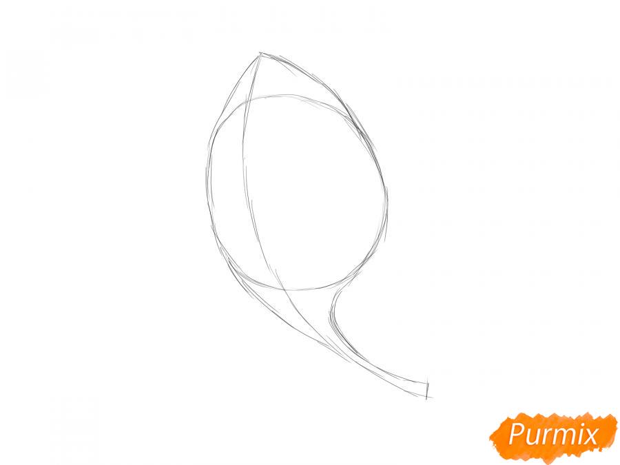 Рисуем шпинат - шаг 2