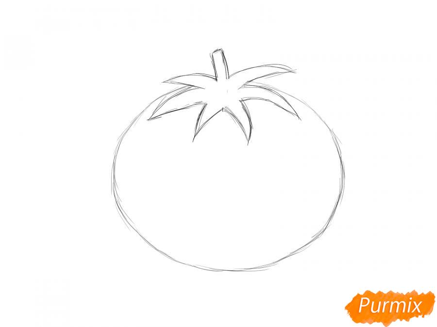 Рисуем спелый помидор - шаг 4