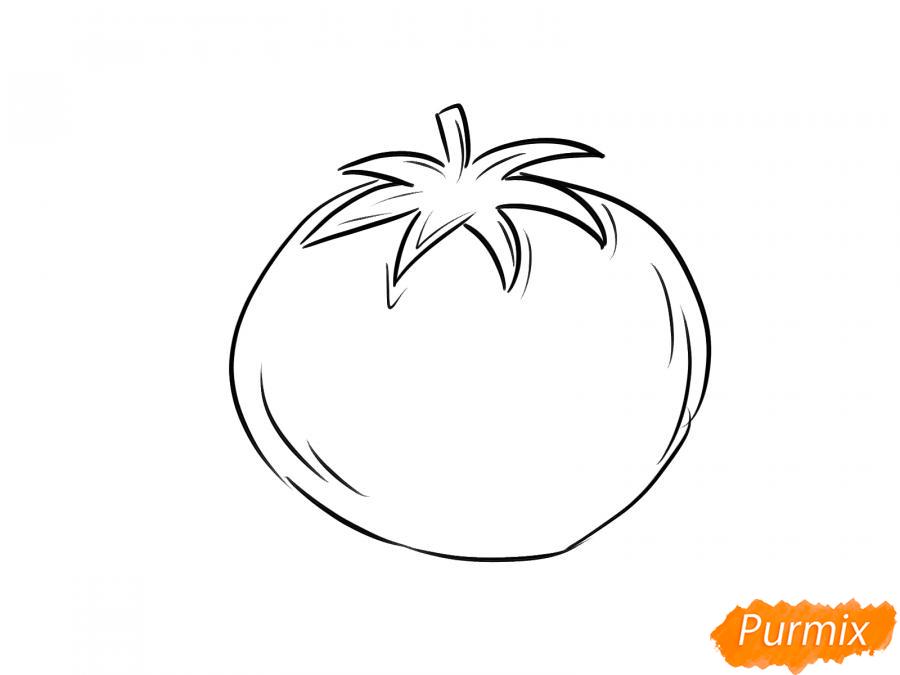 Рисуем спелый помидор - шаг 5