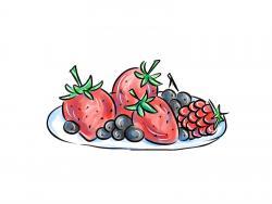 тарелку с ягодами