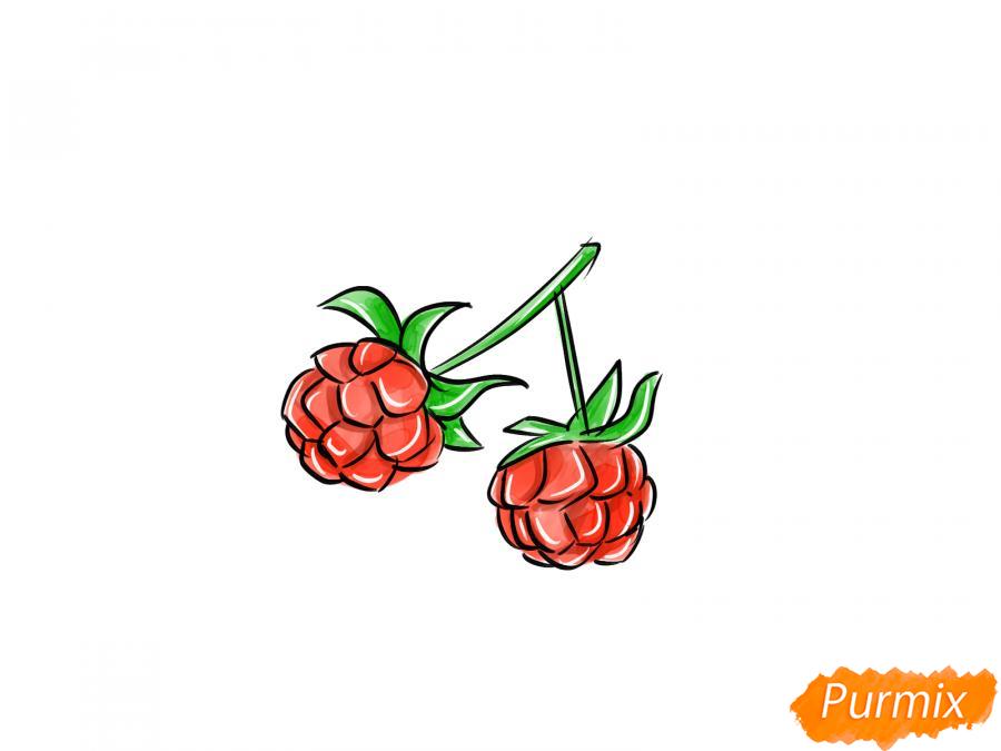 Рисуем ягоду морошку карандашами - шаг 8