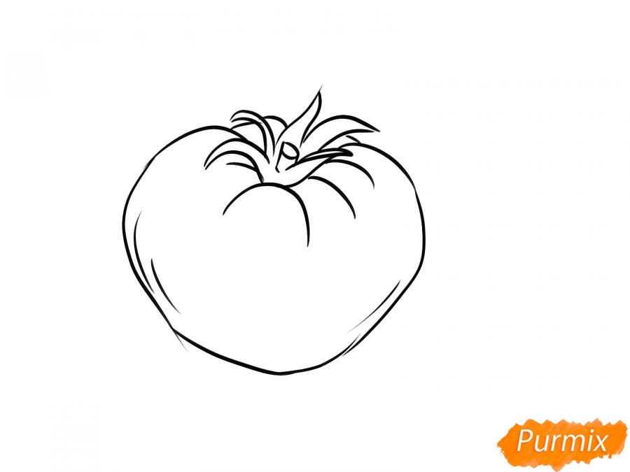 Рисуем желтый помидор - шаг 4