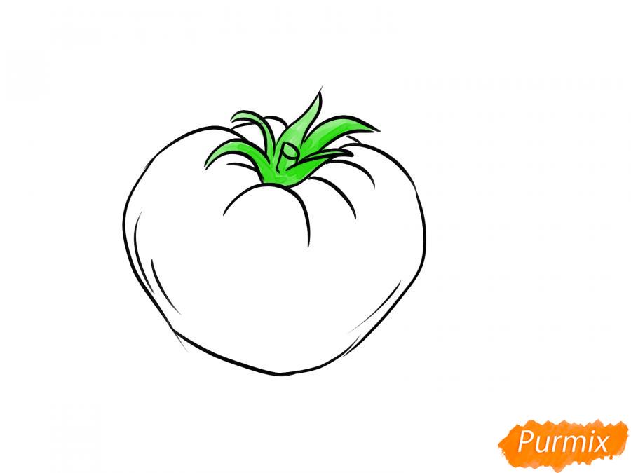 Рисуем желтый помидор - шаг 5