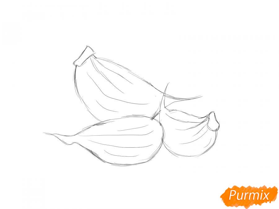 Рисуем зубчики чеснока - шаг 4