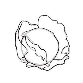 Рисуем Капусту - шаг 3
