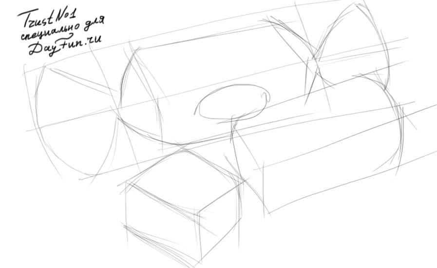 Как рисовать конфеты - шаг 2