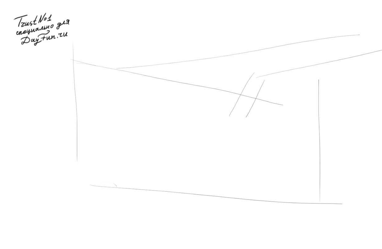 Рисуем веточку малины - шаг 1