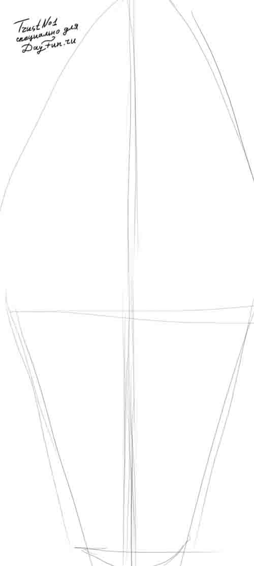 Рисуем мороженое - шаг 1