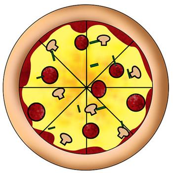 Рисуем пиццу - шаг 3