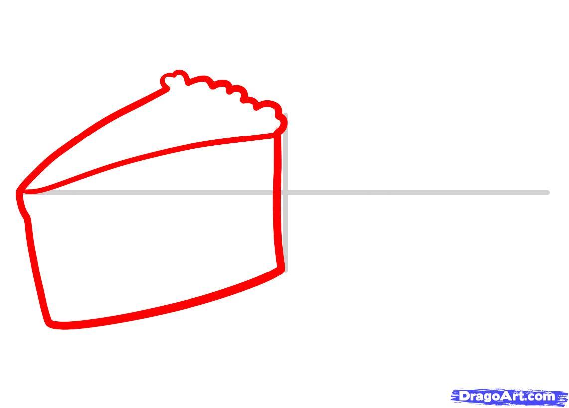 Рисуем Пирожные - шаг 2