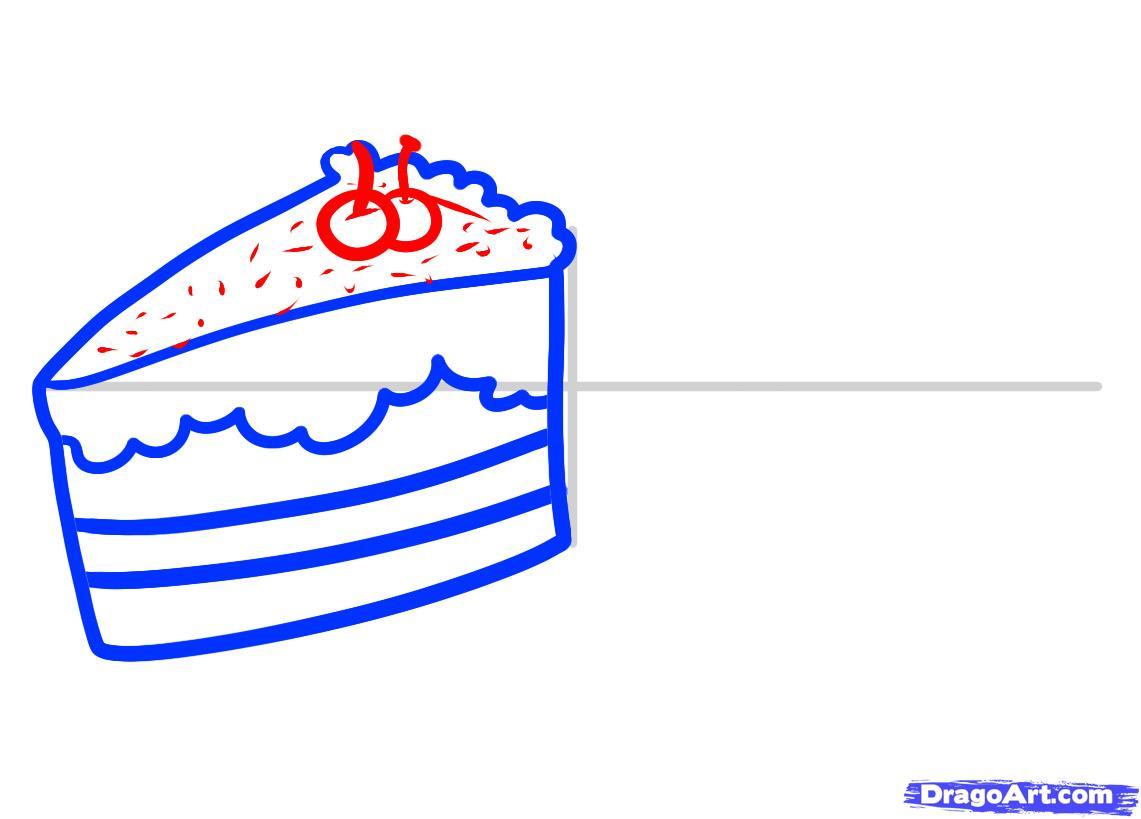Рисуем Пирожные - шаг 4