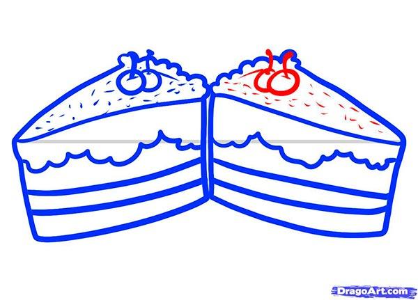 Рисуем Пирожные - шаг 7