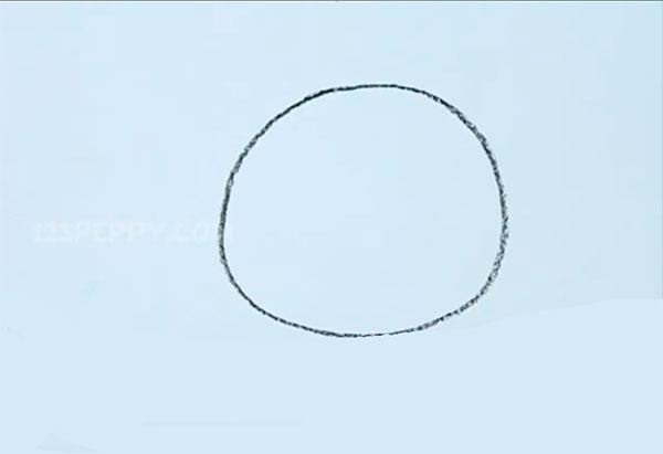 Как легко нарисовать пончик - шаг 1