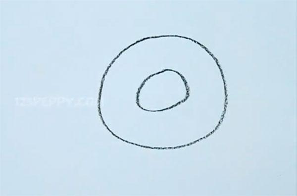Как легко нарисовать пончик - шаг 2