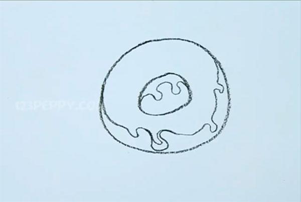 Как легко нарисовать пончик - шаг 3