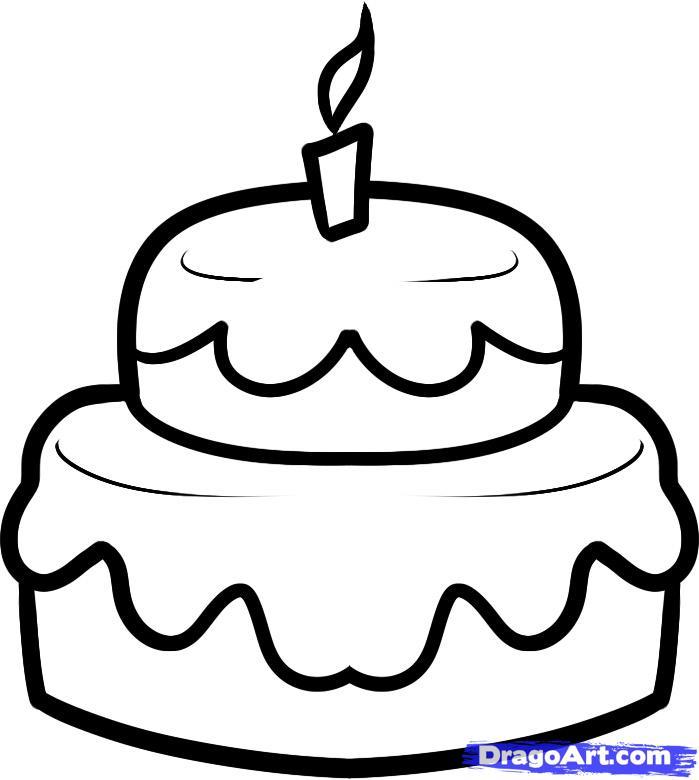 Рисуем праздничный торт - шаг 6