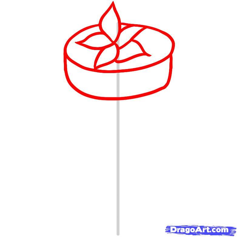 Рисуем Свадебный торт - шаг 2
