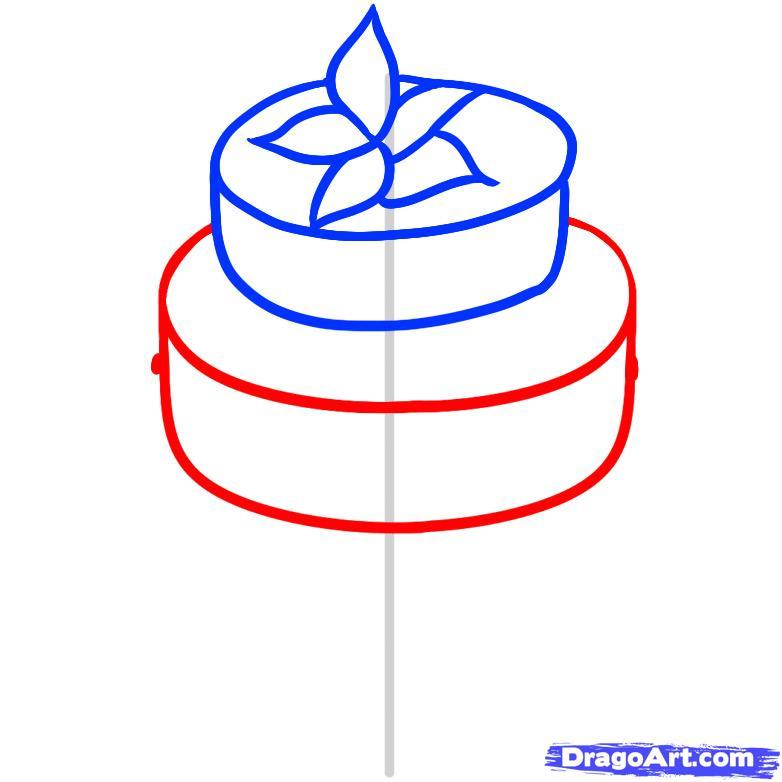 Рисуем Свадебный торт - шаг 3