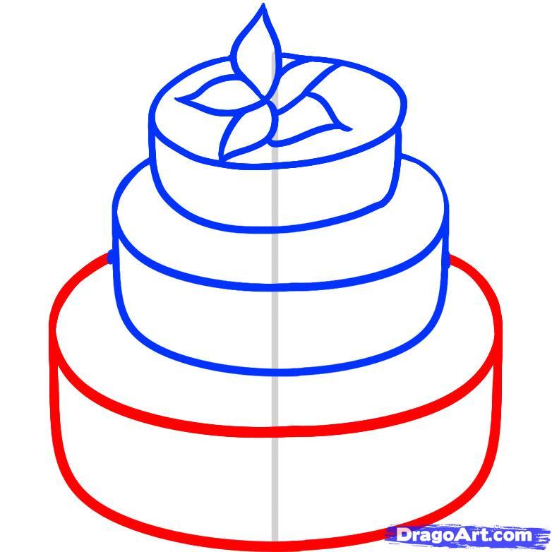 Рисуем Свадебный торт - шаг 4