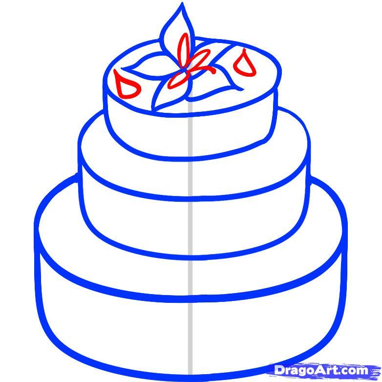 Рисуем Свадебный торт - шаг 5