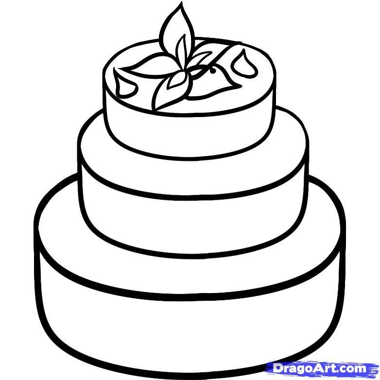 Рисуем Свадебный торт - шаг 6